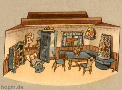 Nuestras MiniaturaS - ImprimibleS: Habitación de papel