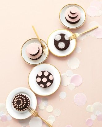 """See the """"Mini Spotted Cakes"""" in our Polka-Dot Wedding Ideas gallery"""