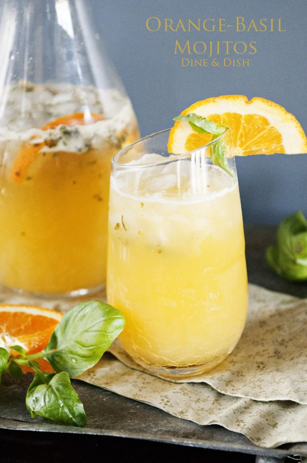 Refreshing Orange Basil Mojitos - The perfect warm weather cocktail!