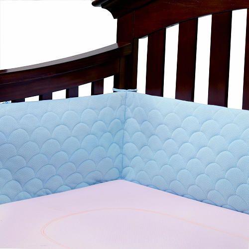 "Ubimed Lifenest Breathable Padded Mesh Crib Bumper - Blue - Ubimed - Babies ""R"" Us $50"
