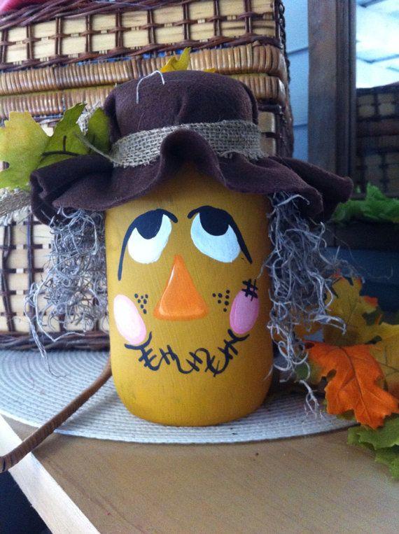 Mason jar scarecrow from my etsy shop!