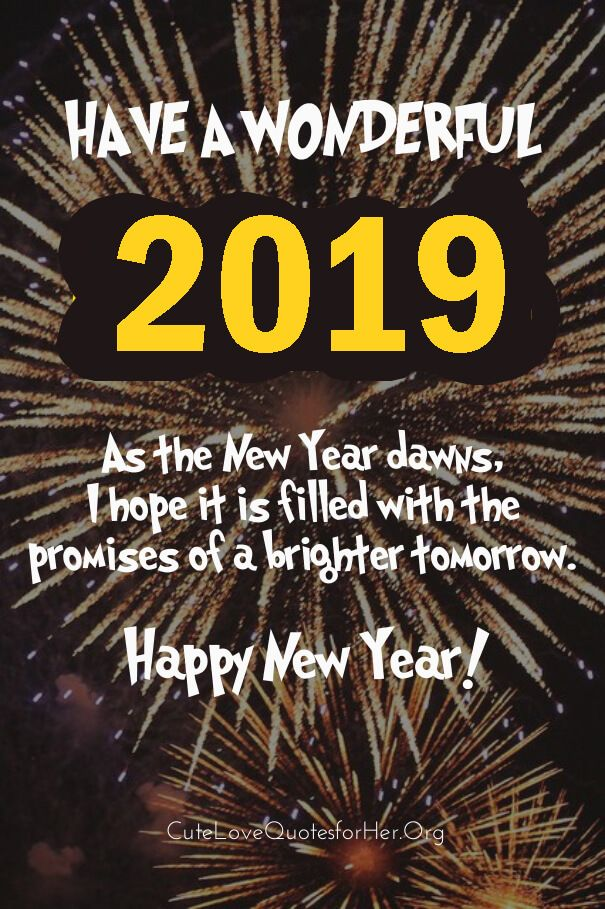 Happy New Year 2019 Quotes Quotes about new year