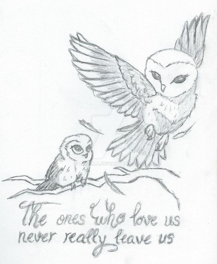 Mother Daughter Owls (Tattoo concept) by Luvella.deviantart.com on @DeviantArt