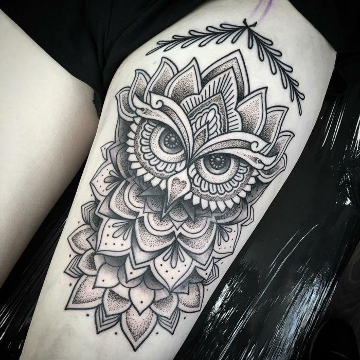 Dotwork Tattoo Mandalatattoo Trendy Tattoos Owl Tattoo Sleeve Tattoos For Women
