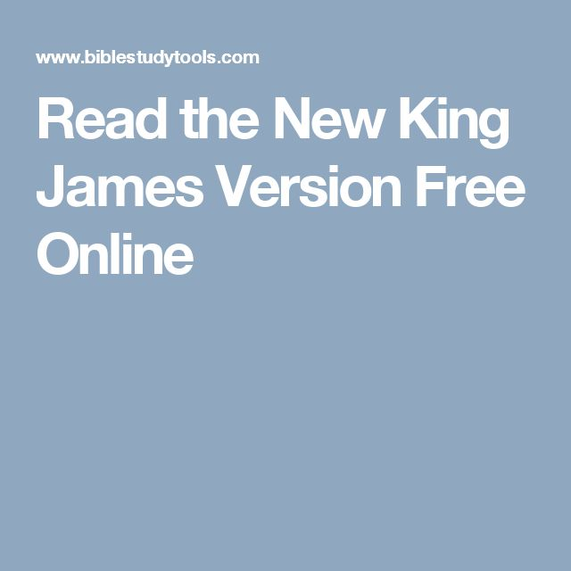 Read the New King James Version Free Online
