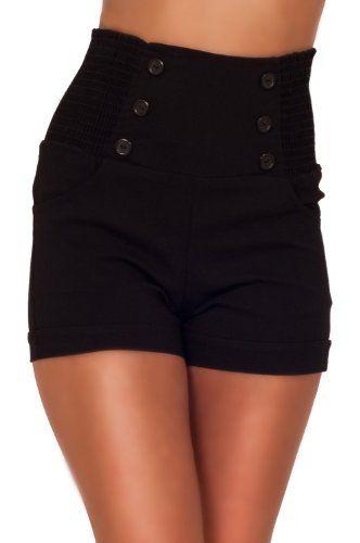 Taille haute sophistiqués chic à la mode avant de bouton Vintage Shorts Inspired Hot From Hollywood http://www.amazon.fr/dp/B00JH14Y2I/ref=cm_sw_r_pi_dp_xfsxub1MW8XJE