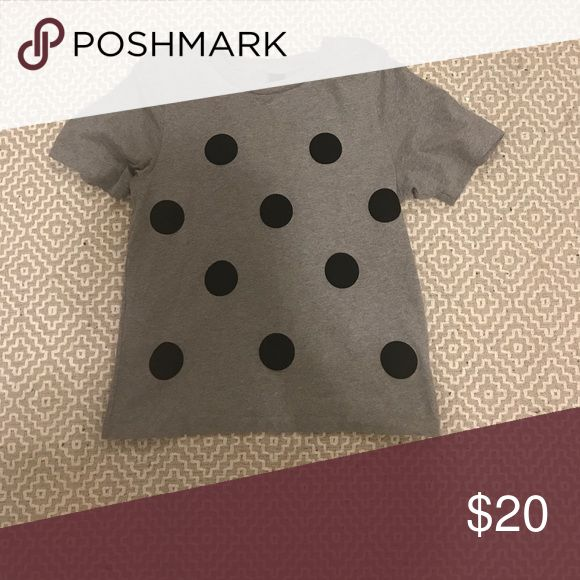 Topshop Boutique Polka Dot Tee Soft cotton tee with large polka dot detail adds instant flair to your basic tee. From Boutique line. Topshop Tops Tees - Short Sleeve