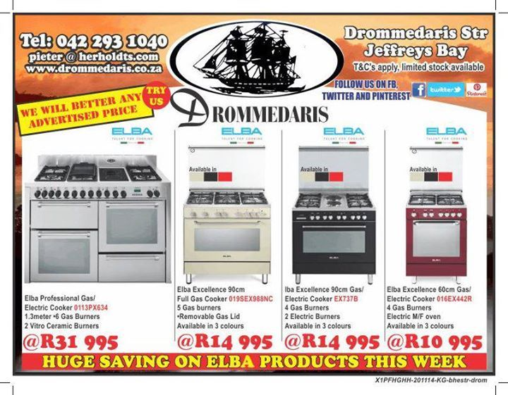 Save big on our Elba Italian style cooking products this week at Drommedaris! #lifestyle #sales #appliances