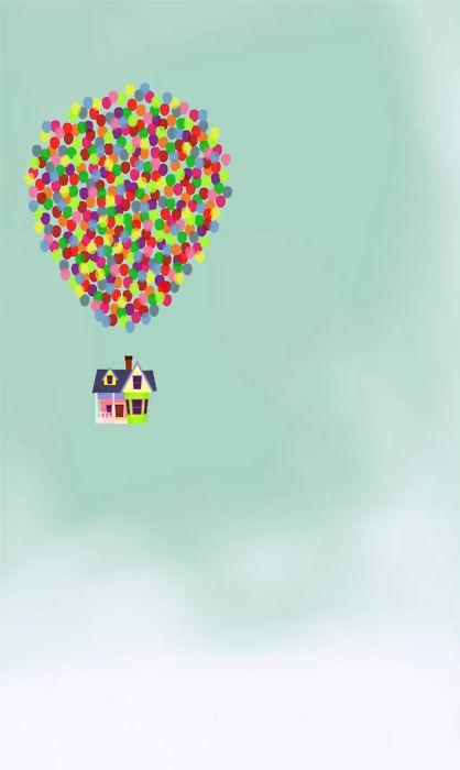 """Up"". Concept art. #disney #pixar.Thumb Prints, Kids Room, Art Prints, Canvas, House, Disney, Hot Air Balloons, Posters, Derek Temples"