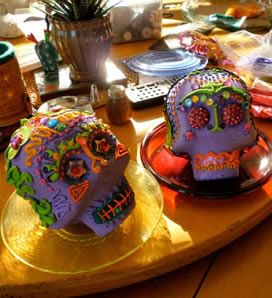 Everything you need to make sugar skulls for dia de los muertos