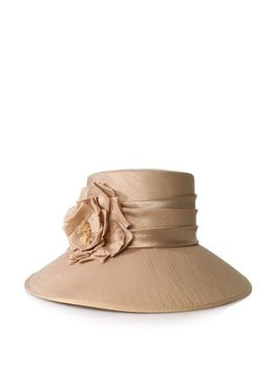 Giovannio Women's Shantung Rose Hat (Beige)