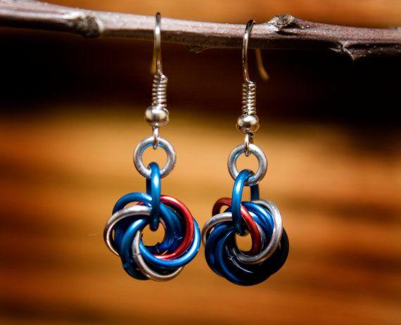 Mobius Earrings  Toronto Blue Jays by HowlOwl on Etsy.