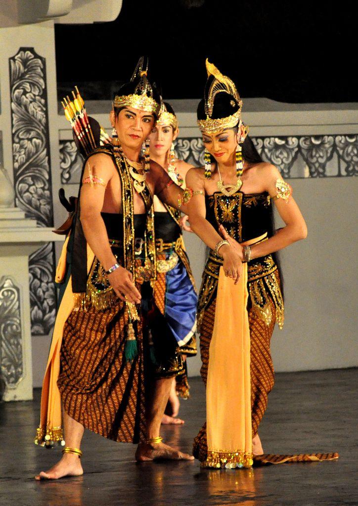 Ramayana, Sita Dewi and Lakshmana - Ramayana Ballet Performance at Purawisata Jogja, Yogyakarta, Indonesia
