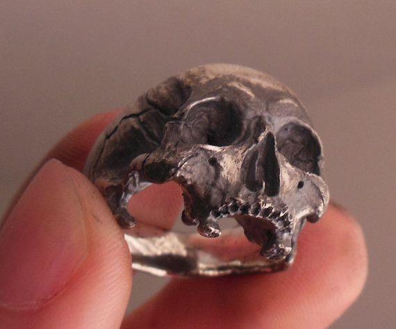 Anillo del cráneo perforados media mandíbula para por Bakogiorgis