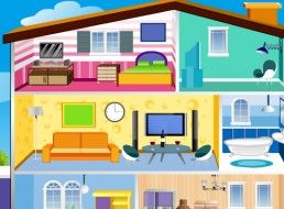 Decoration games of barbie houses