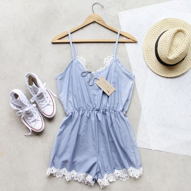 Summer Soiree Romper, Sweet Lace Rompers from Spool No.72. | Spool No.72