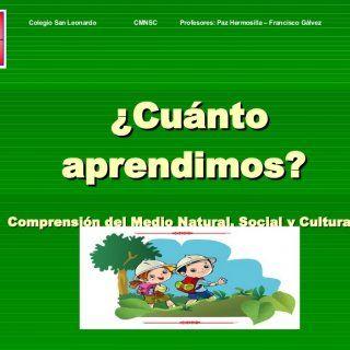 ¿Cuánto aprendimos? Comprensión del Medio Natural, Social y Cultural Colegio San Leonardo CMNSC Profesores: Paz Hermosilla – Francisco Gálvez   ¿Qué son l. http://slidehot.com/resources/s-c3-a-dntesis-cmnsc-1.35691/