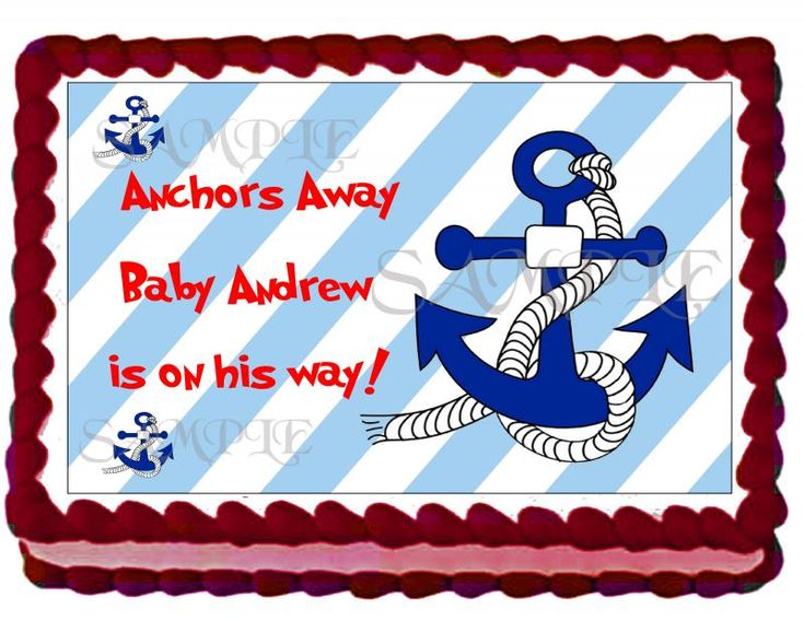 Nautical Boy Baby Shower Cake Topper