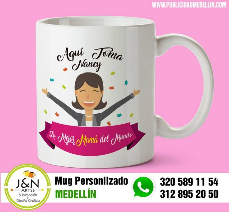 Los Mug Personalizados en Medellín son una muy buena alternativa para regalar a tu madre en su día, sorprendela con los diseños que tenemos para ella.