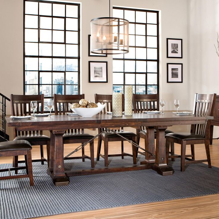 Hayden Trestle Dining Table With Metal Table Slides By Intercon Hudson 39 S Furniture Dining