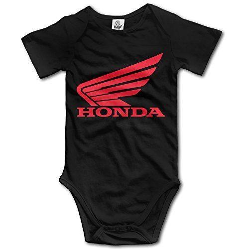Kakakaoo Honda Two Wheeler Logo Babys Boy's & Girl's Baby Climbing Clothes Black Size 6 M