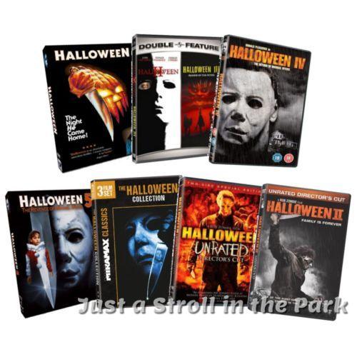 Halloween Dvd Box Set.Halloween Complete Michael Myers Movies 1 8 Reboot Movies 1 2 Box