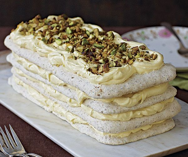 Pistachio-Lemon Dacquoise ~ fine cooking