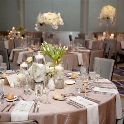 Champagne Color Wedding Reception Pink And Scheme Bridal