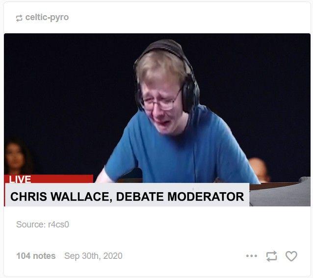 Pin By Lauren On Memes Or Whatever Debate Moderator Memes Chris Wallace
