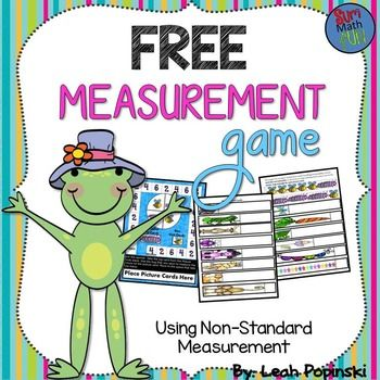 FREE Measurement Game... Math, Measurement Kindergarten, 1st, 2nd Activities, Games, Math Centers Common Core Standards 1.MD.A.2...This game will have your students practicing non-standard measurements with caterpillars and bees. Super cute graphics and lots of fun!  ♥Just print, cut, laminate, and use year after year!