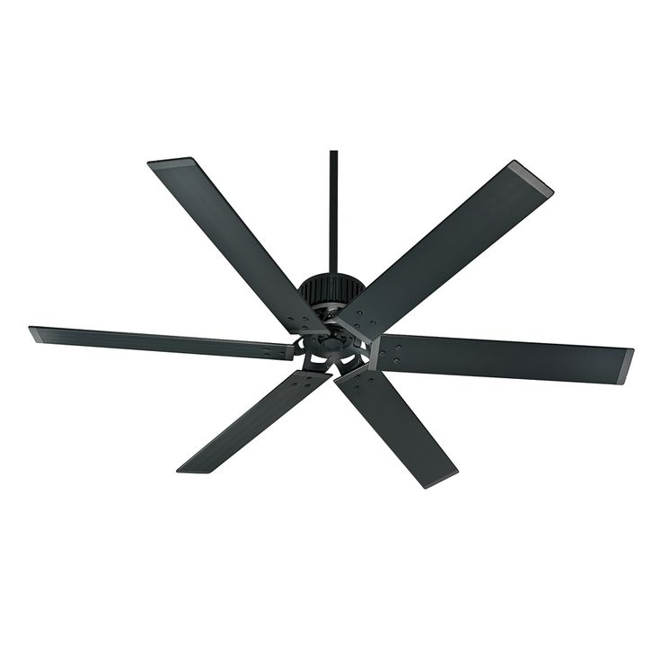 Charmant Shop Hunter Industrial 72 In Matte Black Outdoor Downrod Mount Ceiling Fan ( 6