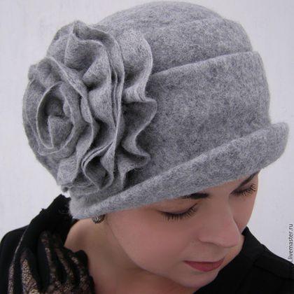 """Шляпы ручной работы. Ярмарка Мастеров - ручная работа. Купить Шляпка из войлока """"Утро седое"""". Handmade. Серый, валяние из шерсти"""