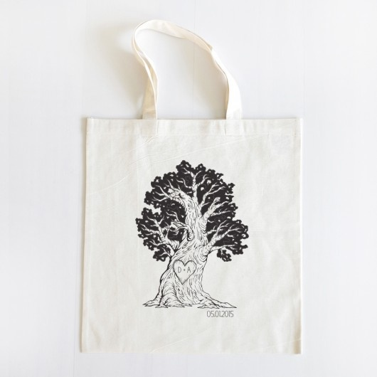 Carving Tree Tote $10