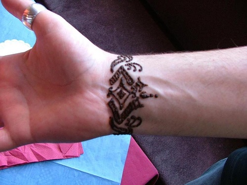 tribal wrist tattoos for guys -