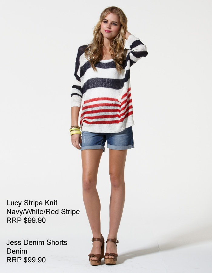 Quick...These are selling fast!  Lucy Stripe Knit - Super comfy!