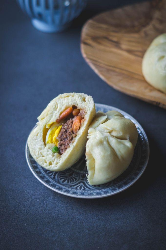 Rezept für 12 gefüllte gedämpfte Hefebrötchen (Bánh Bao)