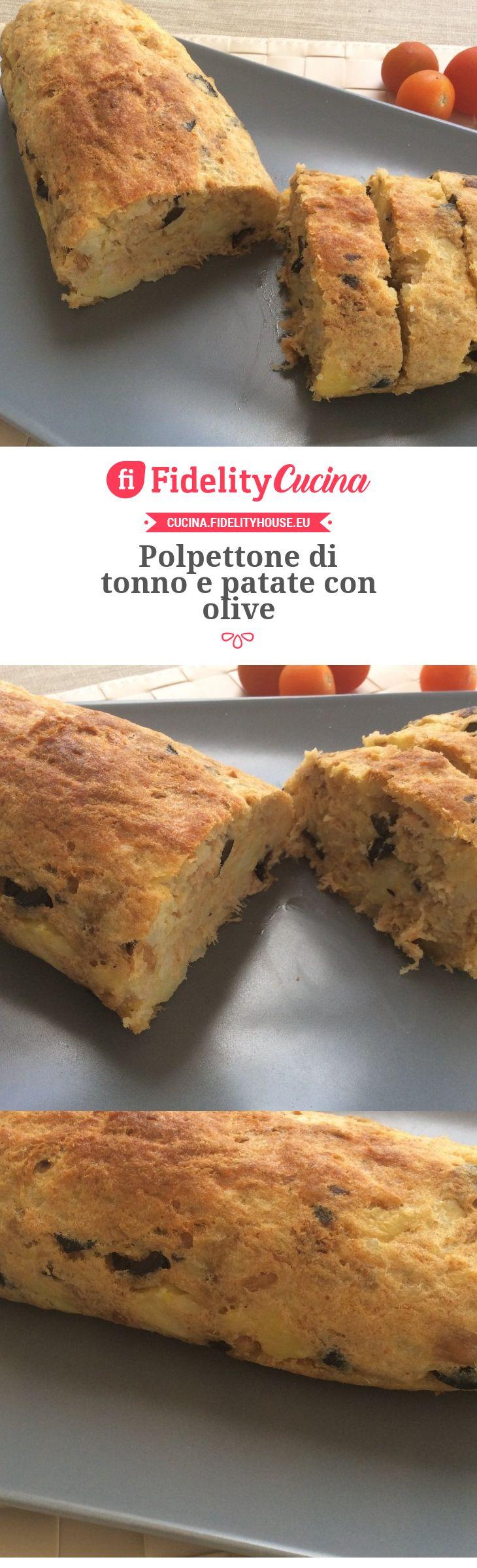 Polpettone di tonno e patate con olive
