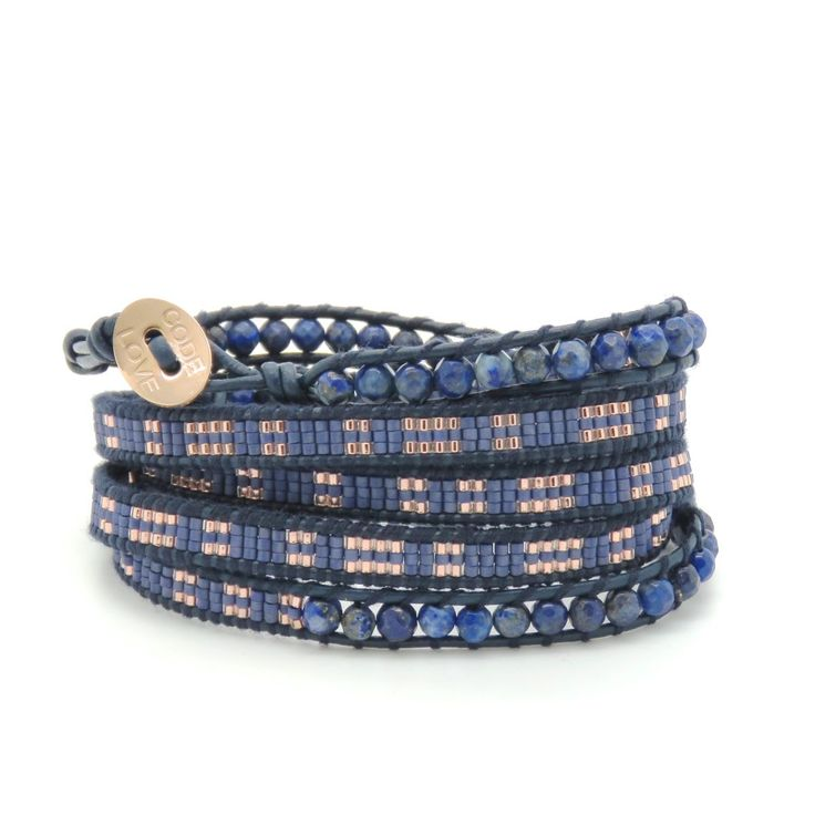 CODE LOVE 'SURRENDER' Morse Code Seed Wrap Bracelet - This bracelet has been hand crafted using the finest quality seed beads bound onto leather and finished with a signature Code Love button. www.codelove.com.au