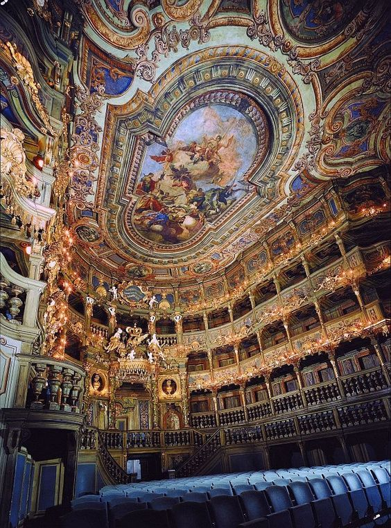 The Bayreuth Festspielhaus Theatre is an opera house north of Bayreuth, Germany