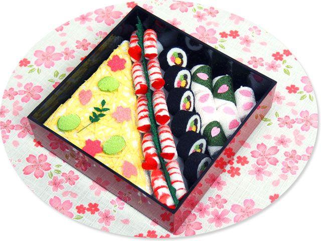 hanami lunch box made of Chirimen,kimono fabric