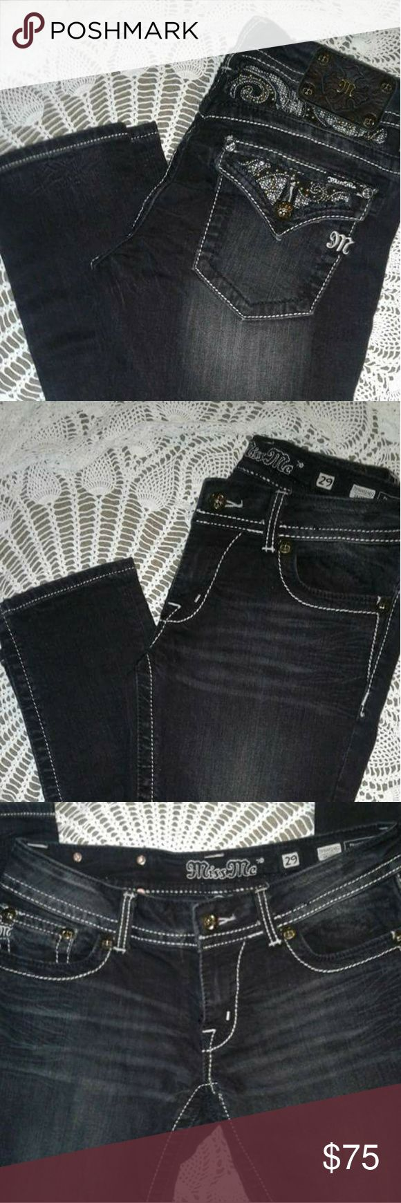 Black denim Jeans Never worn. Excellent condition. They are offblack color (meaning there are not jet black 😊 Miss Me Jeans Skinny