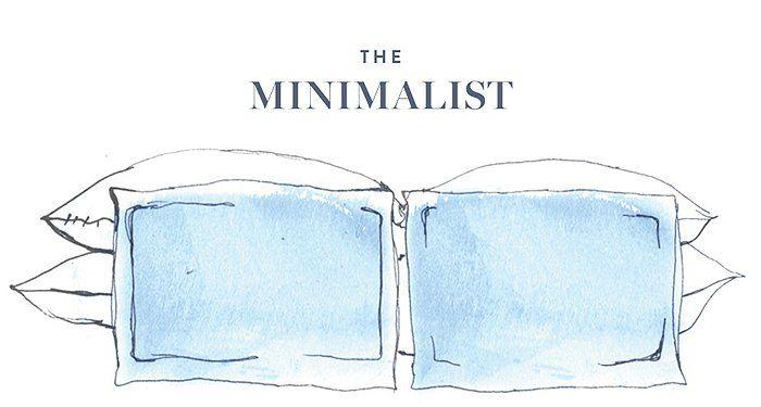 Bed Pillow Arrangement #1: The Minimalist