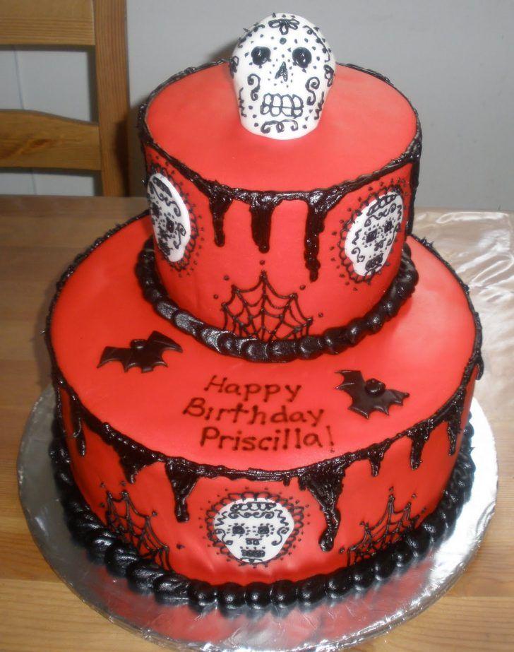 Outstanding 32 Best Photo Of Sugar Skull Birthday Cake Birthday Cake Personalised Birthday Cards Beptaeletsinfo