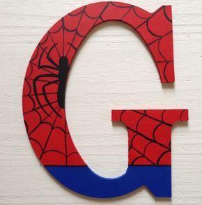 Superhero Wooden Letters Wall Decorative Ironman por ArtsyAutly