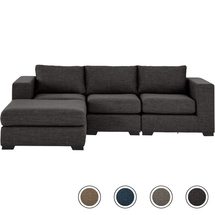 Mortimer 4 Seater Modular Corner Sofa, Seal Grey from Made.com. A generously proportioned sofa that fits around you - with individual modular units ..