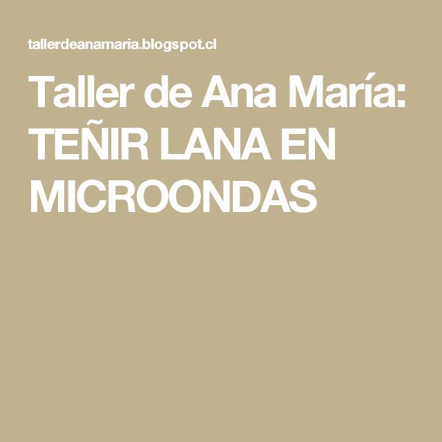 Taller de Ana María: TEÑIR LANA EN MICROONDAS