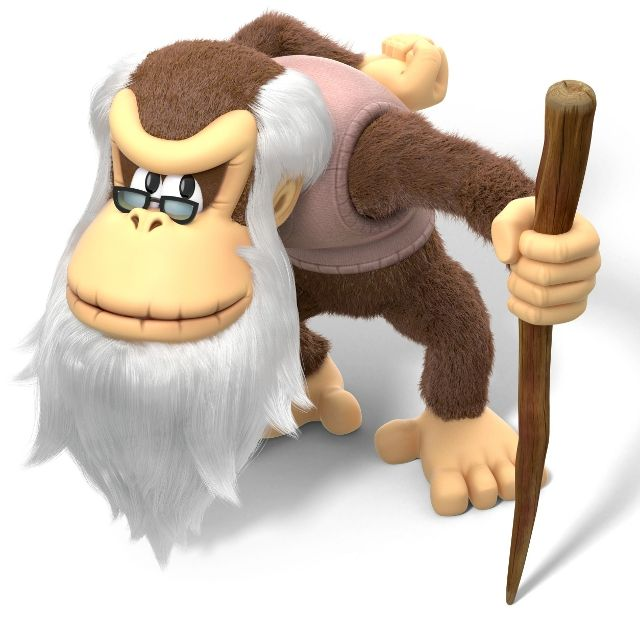 Cranky Kong (Donkey Kong Country) - Donkey Kong series newcomer. Takes inspiration from Donkey Kong Country, Donkey Kong Country 64, and Donkey Kong Country Tropical Freeze; Medium class character.