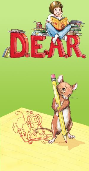 Celebrate D.E.A.R. (Drop Everything and Read) day every year on April 12, or better yet, make every day D.E.A.R. Day! Everyone can particpate - all you need is a book!