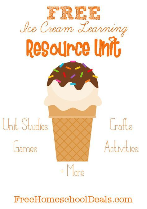Free ice cream learning resource unit: unit studies, games, activities, crafts, and more!  at freehomeschooldeals.com