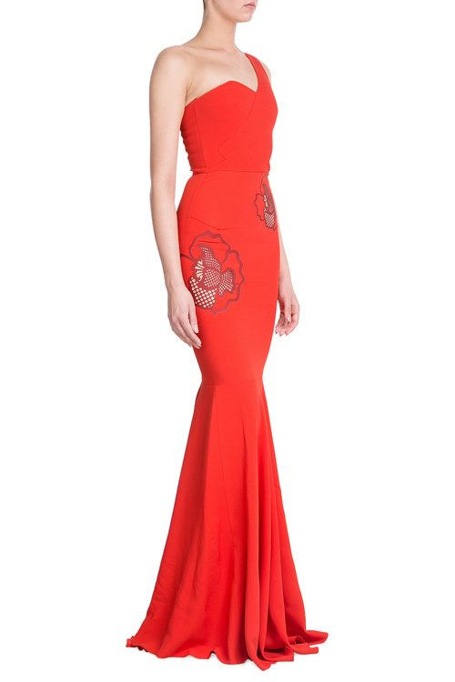 Asymmetric Dress with Applique
